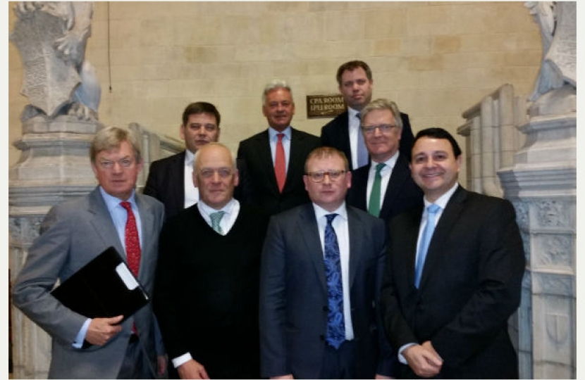 Leicestershire's MPs with Nick Rushton meeting Marcus Jones MP, (DCLG).